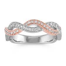 infinity diamond wedding band. infinity diamond wedding band in white and rose gold w