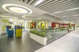 Image Wayfinding Modern Office Reception Design Microsoft Idc Office Zingyhomes Microsoft Idc By Dsp Design Associates Pvt Ltd Architect In