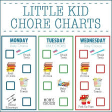 Toddler Chore Chart Template Childrens Chore List Summer Printable Charts For 6 Year
