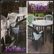 Refinishing Old Ugly Patio Furniturespray Paint For Plastic Classy Spray Painting Patio Furniture Remodelling