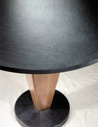 vector table w cherry pedestal black terrazzo base and a cleft black slate top