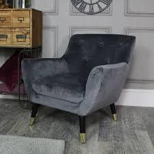 grey velvet chair.  Velvet Grey Velvet Boudoir Chair  In C