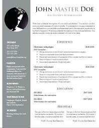Download Free Resume Template Free Creative Resume Templates Doc
