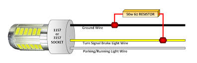 motorcycle led turn signal wiring diagram wiring diagram and hernes led tail light and turn signal conversion 2 3 wire mod led turn signal circuit diagram