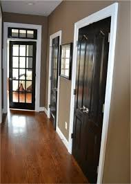 paint the doors black or dark brown with white trim no more dark marks on