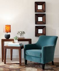 Peacock Colors Living Room Cozy Reading Chair Reading Corner With New Lamp And Table From