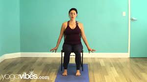 chair yoga video. release neck tension - chair yoga video youtube