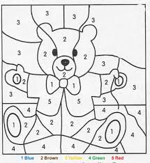 Small Picture Color by number coloring pages Hellokidscom