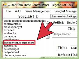 How To Add Custom Songs To Guitar Hero 3 Pc 10 Steps