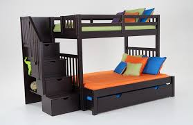 Keystone Stairway Twin/Full Bunk Bed With Perfection Innerspring Mattresses  And Storage/Trundle Unit | Bob's Discount Furniture