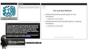 Employee Status Irs Webinar Determining Full Time Employee Status Under The