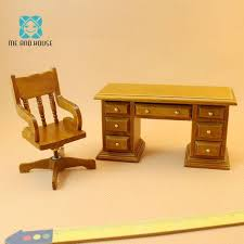 mini office chair 1 12 scale doll house miniature wooden furniture swivels chair desk sets barbie doll house small wooden dolls house from babymom