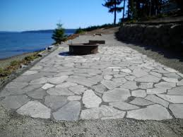 flagstone patio with fire pit. Flagstone Patio, Horseshoe Pit With Firepit Patio Fire V