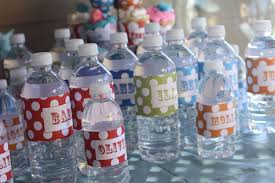 Diy Water Bottle Carnival Water Bottle Labels Circus Water Bottle Wrappers
