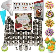 Russian Piping Tips Chart Russian Piping Tips Icing Flower Frosting Tips 77 Pcs Cake Decorating Supplies 42 Icing Piping Tips 31 Baking Pastry Bags 2 Russian Ball Piping Tips