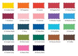 Dylon Dye Colour Chart Dylon Multi Purpose Dyes Color Chart Fabric