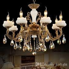 copper crystal jade chandeliers high end elegant noble american european style chandelier lights living room bedroom dining room hotel hall