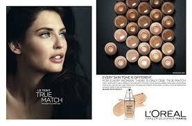 bianca balti for l oreal paris true match makeup adver