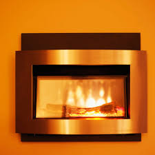 how change gas fireplace electric ehow replace with insert inch white crosley record player fake mantel