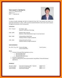 Sample Resume No Work Experience College Student Education