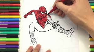 Drawingcolor Spiderman Coloring Pages For Kids How To Drawing Color Spiderman