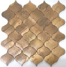 weathered lantern copper mosaic tiles make great kitchen splashback tiles pavers