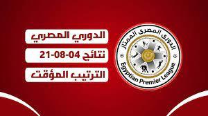 نتائج الدوري المصري اليوم 04-08-2021 - ترتيب الدوري المصري 2021 اليوم -  YouTube