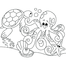 Ocean Coloring Pages For Toddlers Coloring Pages Of The Ocean Sea