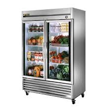 plastic and stainless steel double door glass refrigerator