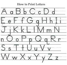 American English Alphabet Chart Writing Mrs Smiths Grade One