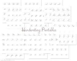 Handwriting Without Tears Cursive Alphabet Printable