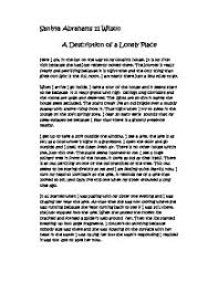 a description of a lonely place gcse english marked by  page 1 zoom in