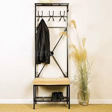Classic Coat Rack Mudroom Classic Metal Entryway Bench With Coat Rack 100 Double Hooks 86