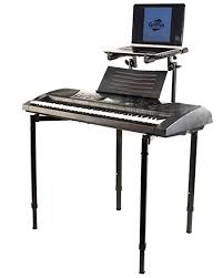 com double piano keyboard and laptop stand by griffin 2 tier dual portable studio mixer rack for turntables dj coffins speakers audio gear and