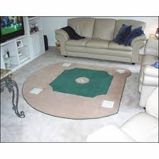 custom baseball field rug br 3 sizes throughout remodel 4