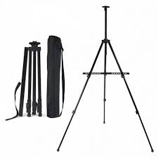 art tripod aluminum alloy display easel adjule sketch painting easel portable folding easel for artist outdoor