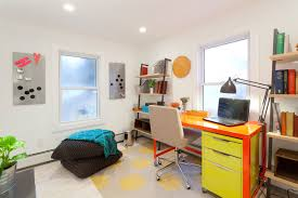 colorful home office. Cozy Colorful Home Office In Modern Style (Image 18 Of 50)