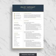 Etsy Resume Template Cool Resume Template Etsy Resume Templates Design Cover Letter Job
