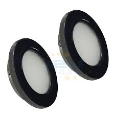 2 led 12v 2 76 black down lighting fixtures for rv motorhome auto coach yacht