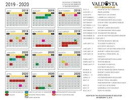 2019 2020 Academic Calendar Student Support Services