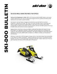 Ski Doo Jetting Chart Ski Doo Mxzx 600rs Refined For Speed
