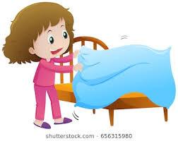 make bed clipart. Exellent Bed Little Girl Making Bed Illustration In Make Bed Clipart T