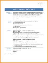 Sample Resume For Substitute Teacher 24 Substitute Teacher Resume Samples Apgar Score Chart 19