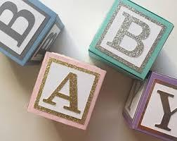 Medium Custom Baby Blocks // Name Blocks // Alphabet Blocks // Baby Shower