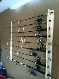fishing pole wall rack wall mounted rod holders fishing forum aluminum rod holder for garage door