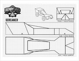 pinewood derby blank template. 21 Cool Pinewood Derby Templates Free Sample Example Format