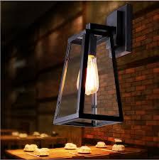nordic american country outdoor balcony bedroom restaurant creative glass box iron restaurant hotel bar wall light