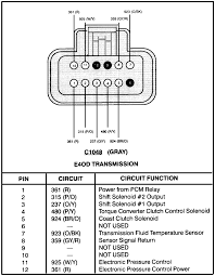ford bronco wiring diagram for the transmission plug