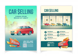 Special Offer Flyer Car Selling Limited Time Special Offer Cartoon Advertising