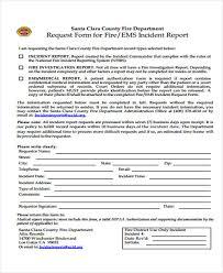 Fire Incident Report Form Zlatan Fontanacountryinn Com